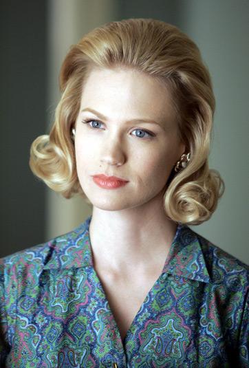 Das ist January Jones in der Rolle als Betty Draper.