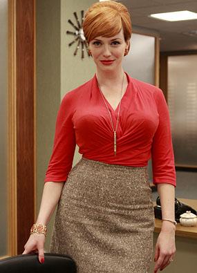 Christina Hendricks spielt die Chefin des Schreibpools und wurde 2010 zur bestaussehenden Frau der USA gewählt.