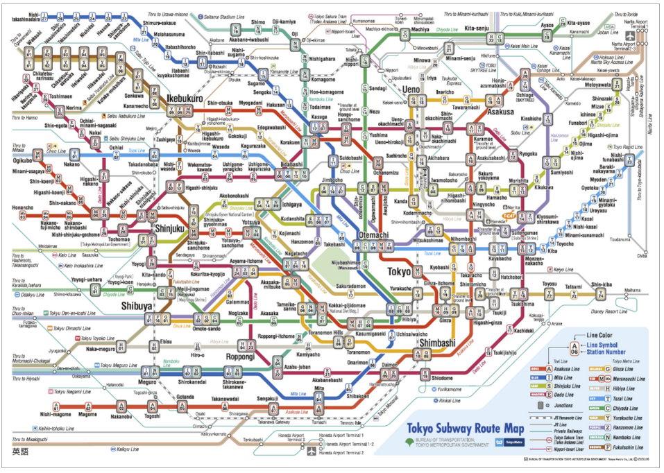 Tokio U-Bahnplan