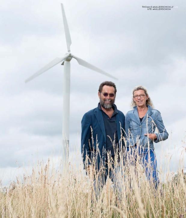 """Energisch engergetisch. """"Vor 20 Jahren Pioniere, heute fast Mainstream. Vom Hofgut Maxau aus starteten Ute udn Thomas Müllerschön ihren Feldzug für erneuerbare Energien"""", berichtet Stefan Jehle."""